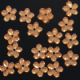 Clearance Orange Flower Sew On Acrylic Gems x 100.BUY 1 GET 1 FREE